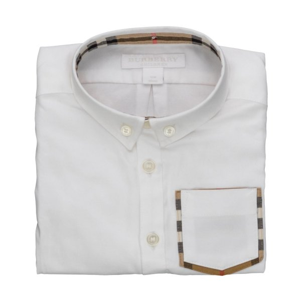 Burberry - WHITE SHIRT FOR BABY BOYS