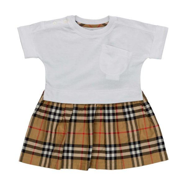 Burberry - COTTON DRESS FOR BABY GIRLS
