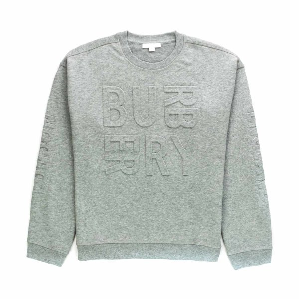 Burberry - GREY SWEATSHIRT FOR BABY BOYS