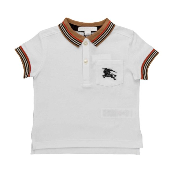 Burberry - LOGO POLO SHIRT FOR BABY BOYS