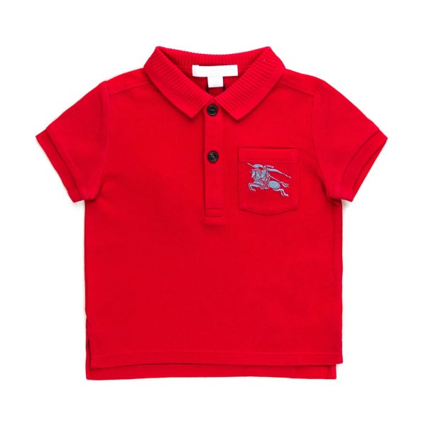 Burberry - RED POLO SHIRT FOR BABY BOYS