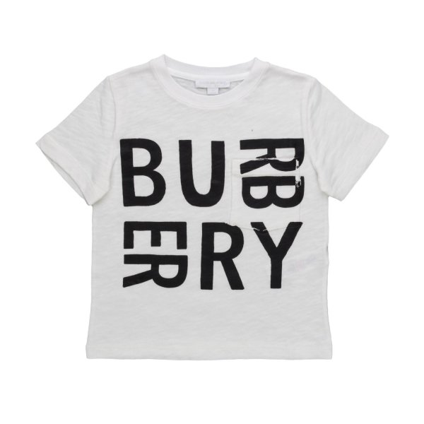 Burberry - BOYS WHITE LOGO T-SHIRT