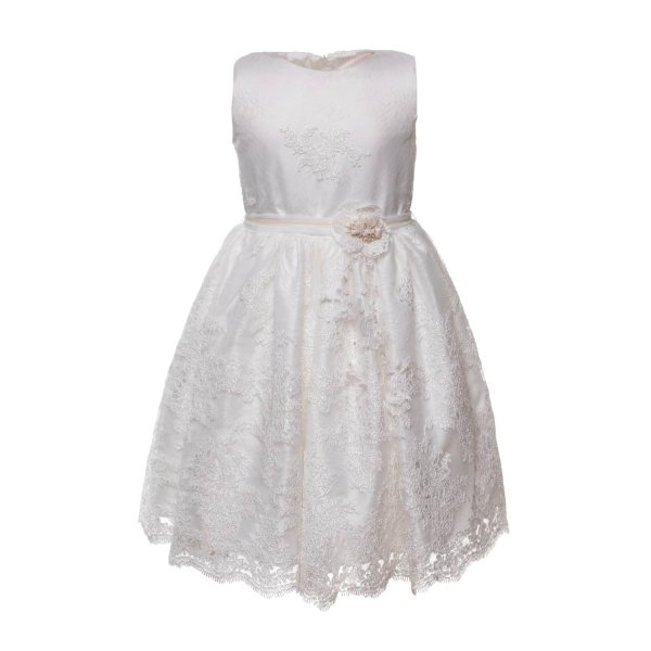 Mimilú - WHITE LACE DRESS FOR GIRLS