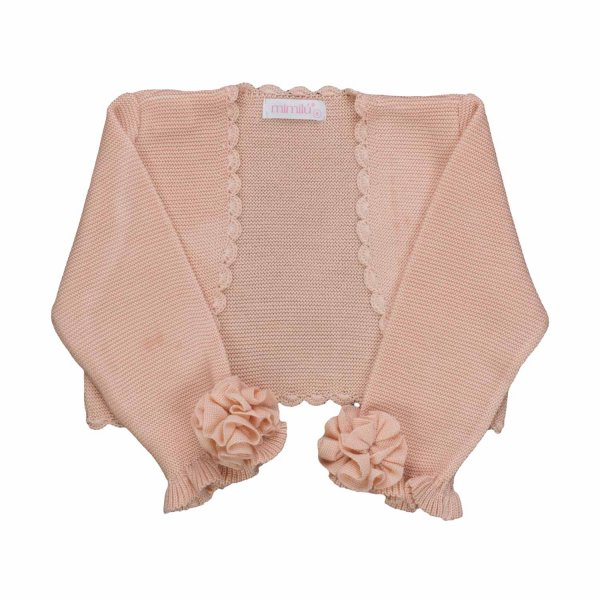 Mimilú - ELEGANT OLD ROSE SHRUG FOR GIRLS