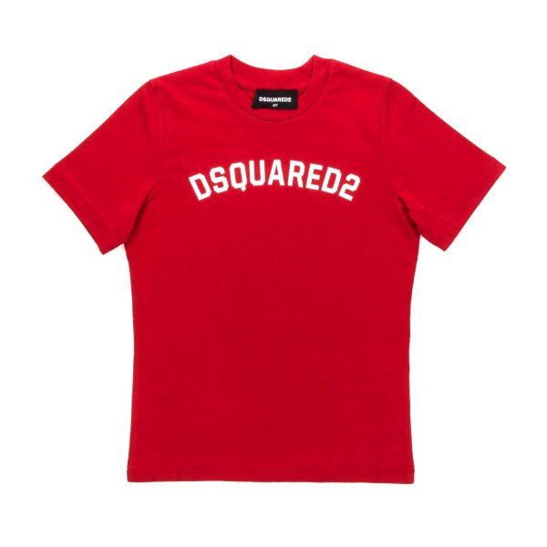 Dsquared2 - RED LOGO T-SHIRT FOR BOYS