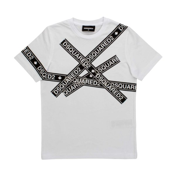 Dsquared2 - WHITE LOGO T-SHIRT FOR BOYS