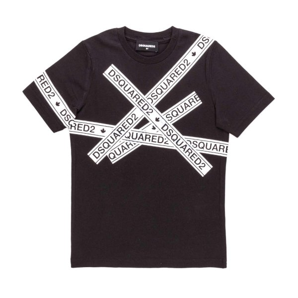 Dsquared2 - BLACK LOGO T-SHIRT FOR BOYS