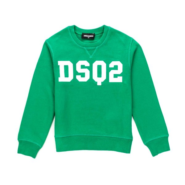Dsquared2 - GREEN LOGO SWEATSHIRT FOR BOYS