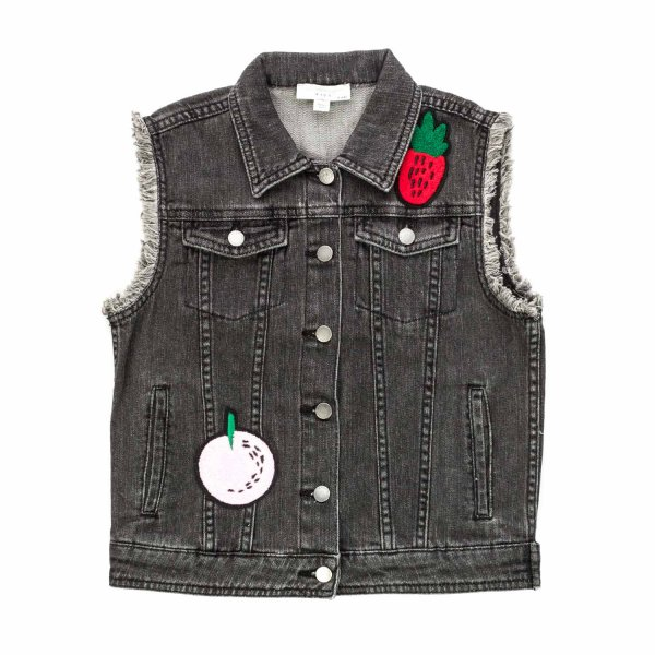 Stella Mccartney - DENIM VEST FOR GIRLS