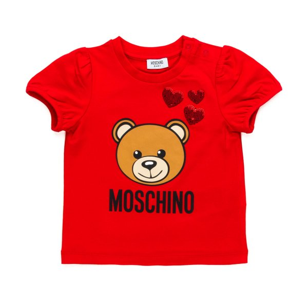 Moschino - BABY GIRL TEDDY BEAR RED T-SHIRT