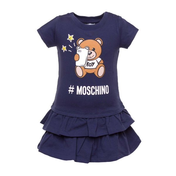 Moschino - BABY BLUE DRESS WITH TEDDY BEAR