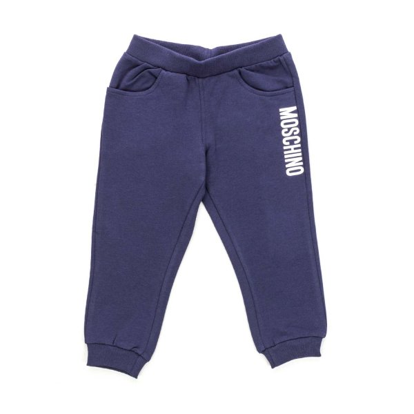 Moschino - BLUE SWEATPANTS FOR BABY BOYS