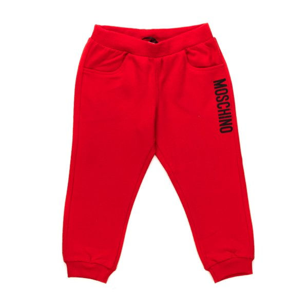 Moschino - RED SWEATPANTS FOR BABY BOYS