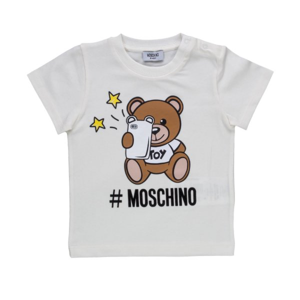 Moschino - UNISEX WHITE COTTON T-SHIRT