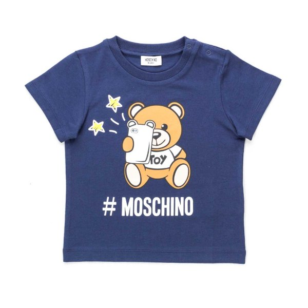 Moschino - BLUE T-SHIRT FOR BABY BOY