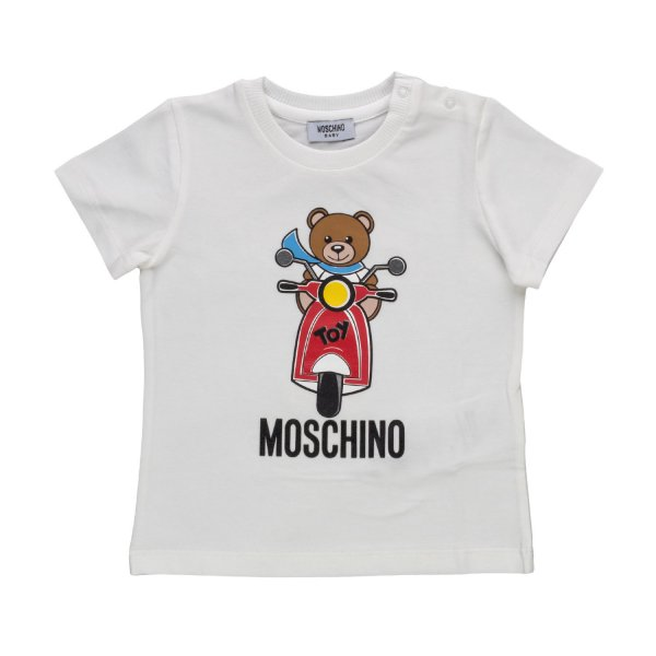 Moschino - BABY BOYS WHITE COTTON T-SHIRT