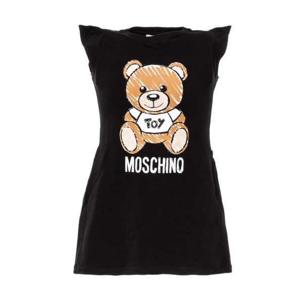 Moschino - TEDDY BEAR BLACK DRESS FOR GIRL