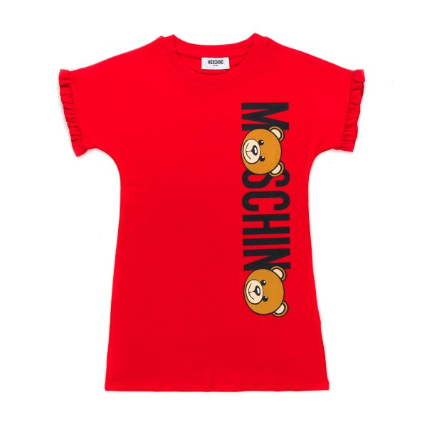 Moschino - GIRL TEDDY BEAR RED DRESS