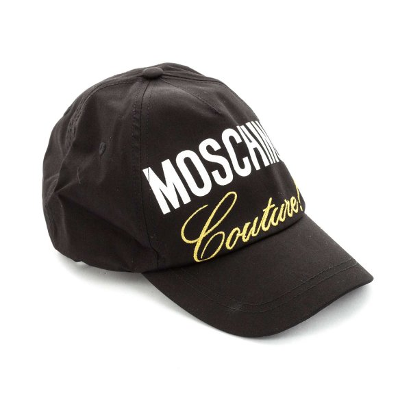 Moschino - BLACK CAP WITH LOGO FOR BOYS