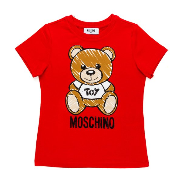 Moschino - TEDDY BEAR RED T-SHIRT FOR GIRL