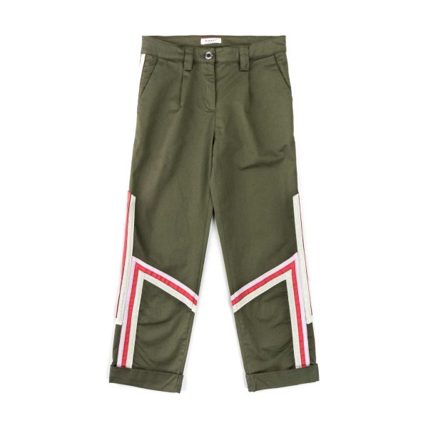 Pinko - DARK GREEN TROUSERS FOR GIRLS