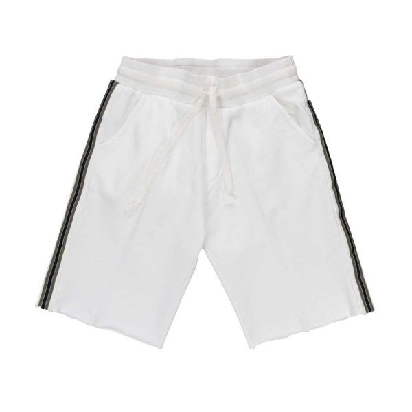 Officina51 - WHITE COTTON SHORTS FOR BOY