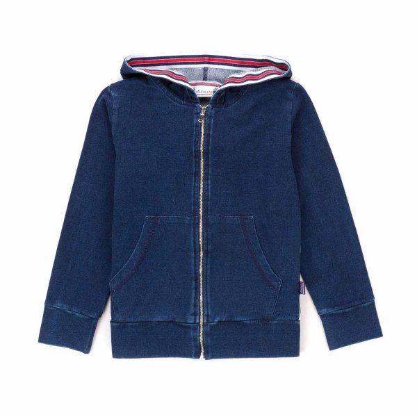Officina51 - ZIP UP BLUE HOODIE FOR BOYS