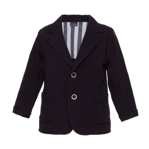 Officina51 - BLUE COTTON JACKET FOR BABY BOY
