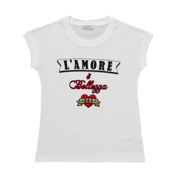 Dolce & Gabbana - LITTLE GIRL LOGO T-SHIRT
