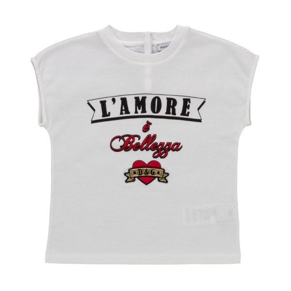 Dolce & Gabbana - LOGO T-SHIRT FOR BABY GIRLS