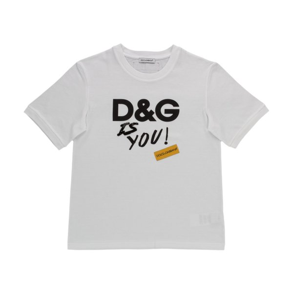 Dolce & Gabbana - D&G LOGO PRINT T-SHIRT FOR GIRLS