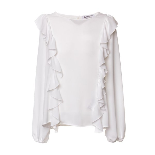 Dondup - WHITE FLOUNCE TOP FOR GIRLS
