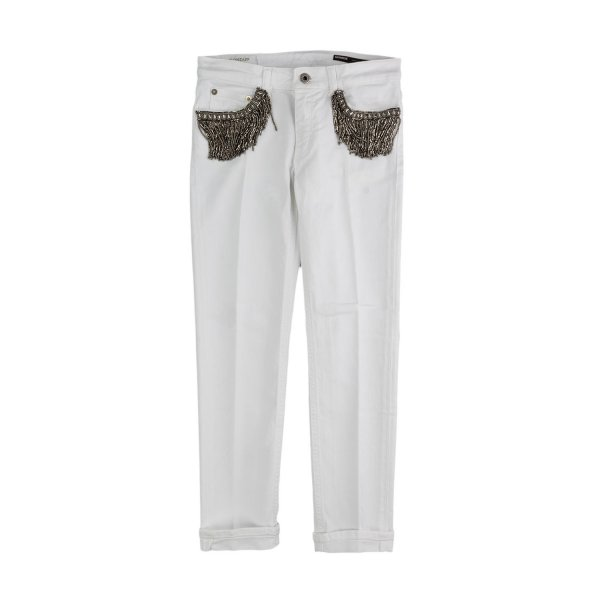 Dondup - WHITE TROUSERS FOR GIRL