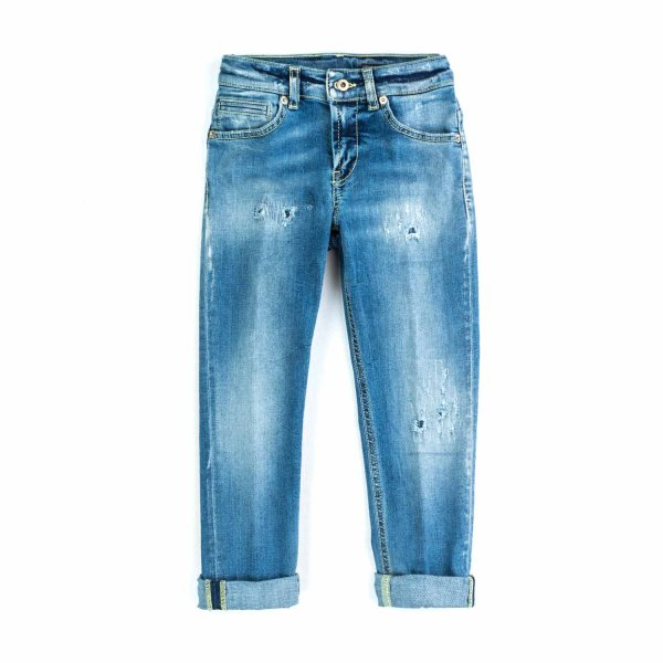 Dondup - BOYS DISTRESSED DENIM JEANS