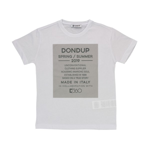 Dondup - GIRLS WHITE COTTON T-SHIRT
