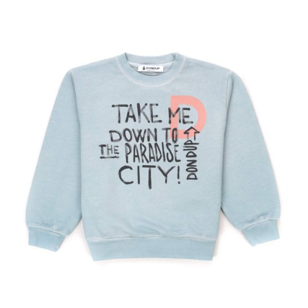 Dondup - GIRL LIGHT BLUE SWEATSHIRT