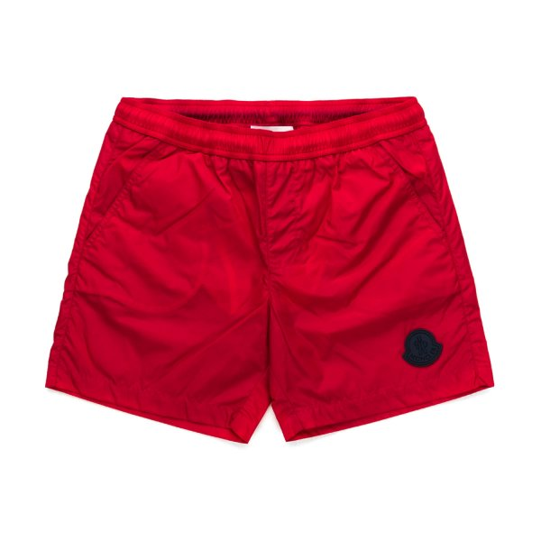 Moncler - RED SWIMMING TRUNKS FOR BOYS