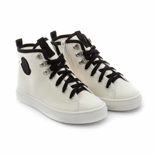 Moncler - WHITE SNEAKERS FOR BOY AND GIRL