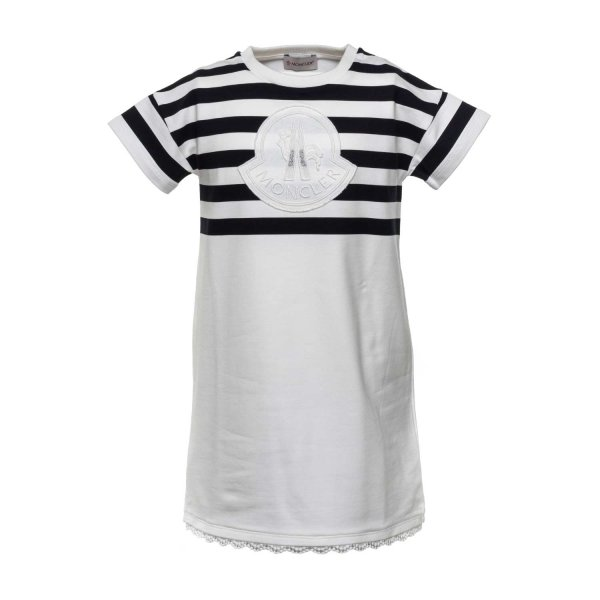 Moncler - DRESS WITH LOGO FOR GIRLS