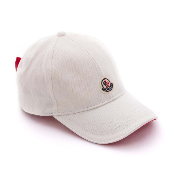 Moncler - WHITE LOGO CAP FOR GIRLS