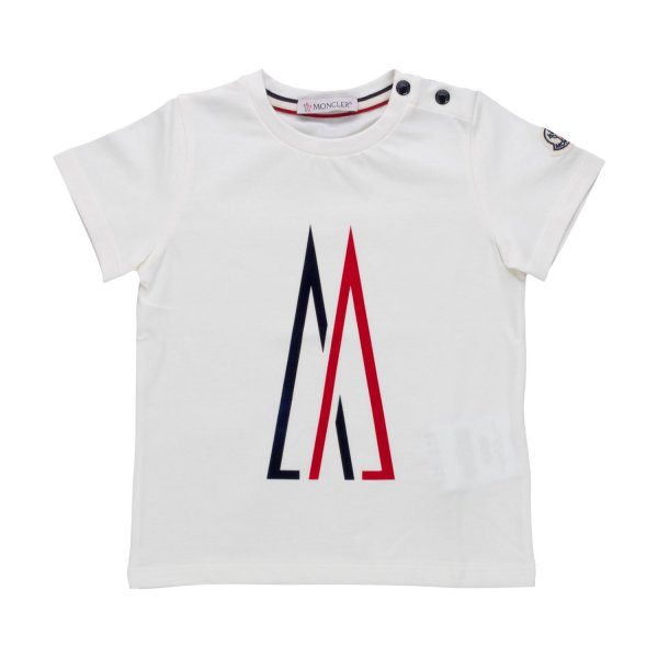 Moncler - WHITE T-SHIRT FOR BABY BOYS
