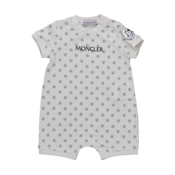 Moncler - BABY COTTON BLEND ROMPERS