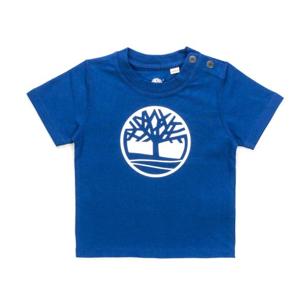 Timberland - BLUE T-SHIRT FOR BABY BOYS