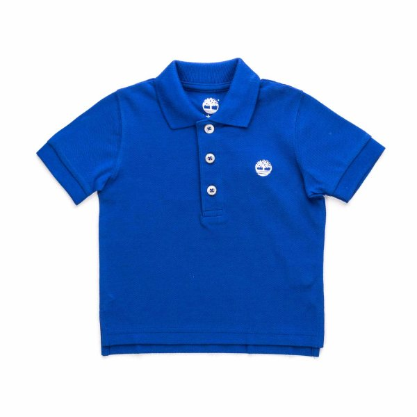 Timberland - BABY BOY BLUE COTTON POLO SHIRT