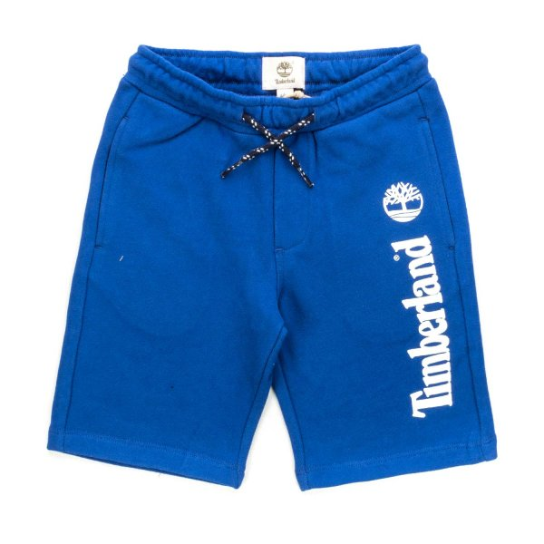 Timberland - BOY BLUE COTTON BLEND SHORTS