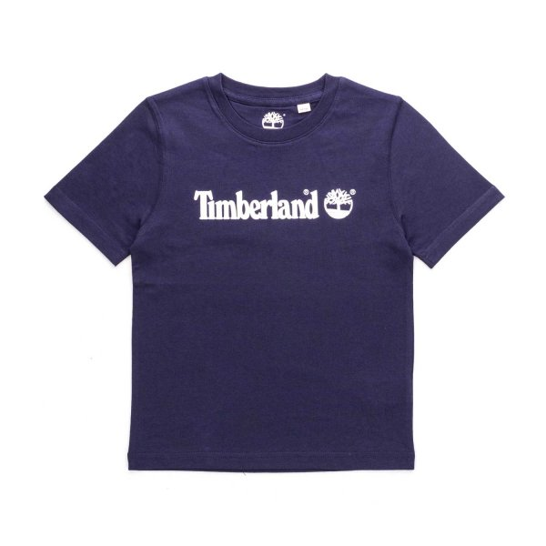 Timberland - BLUE LOGO T-SHIRT FOR BOYS