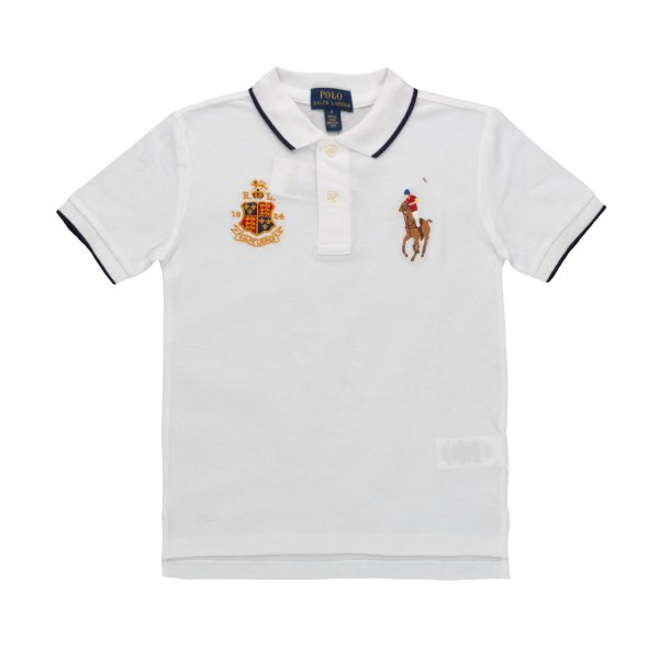 Ralph Lauren - POLO SHIRT WITH LOGO FOR BOY