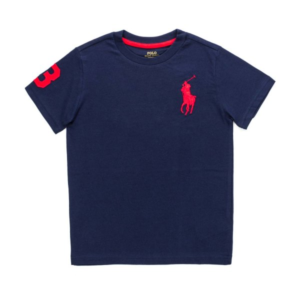 Ralph Lauren - BOYS BLUE LOGO T-SHIRT