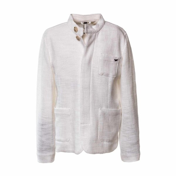 factory price c2ec8 ff513 Armani Junior - WHITE JACKET FOR BOYS