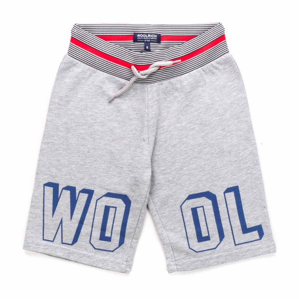 Woolrich - GREY COTTON SHORTS FOR BOYS